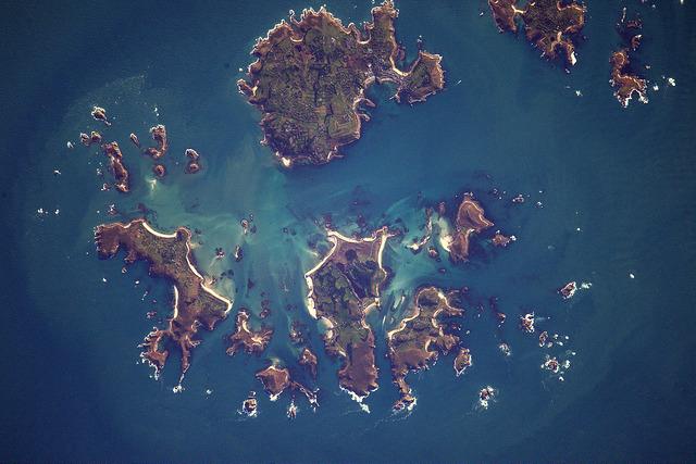 Îles Scilly vue de l'espace - photo Thomas Pesquet