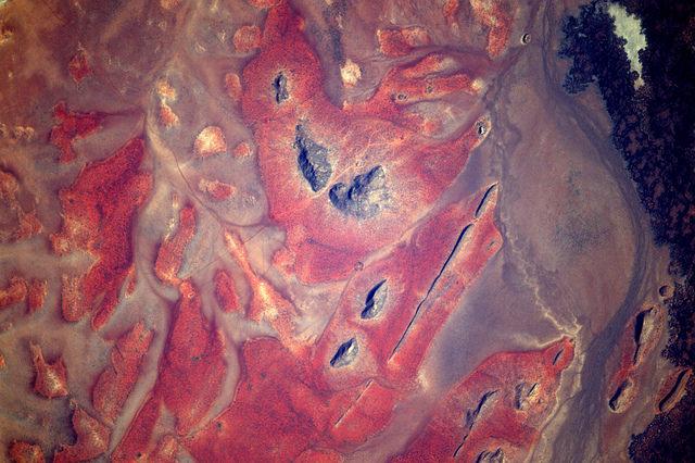 haut plateaux du Kenya par l'astronaute Pesquet