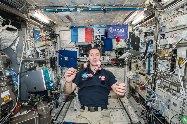 Macarons dans l'espace ISS Thomas Pesquet