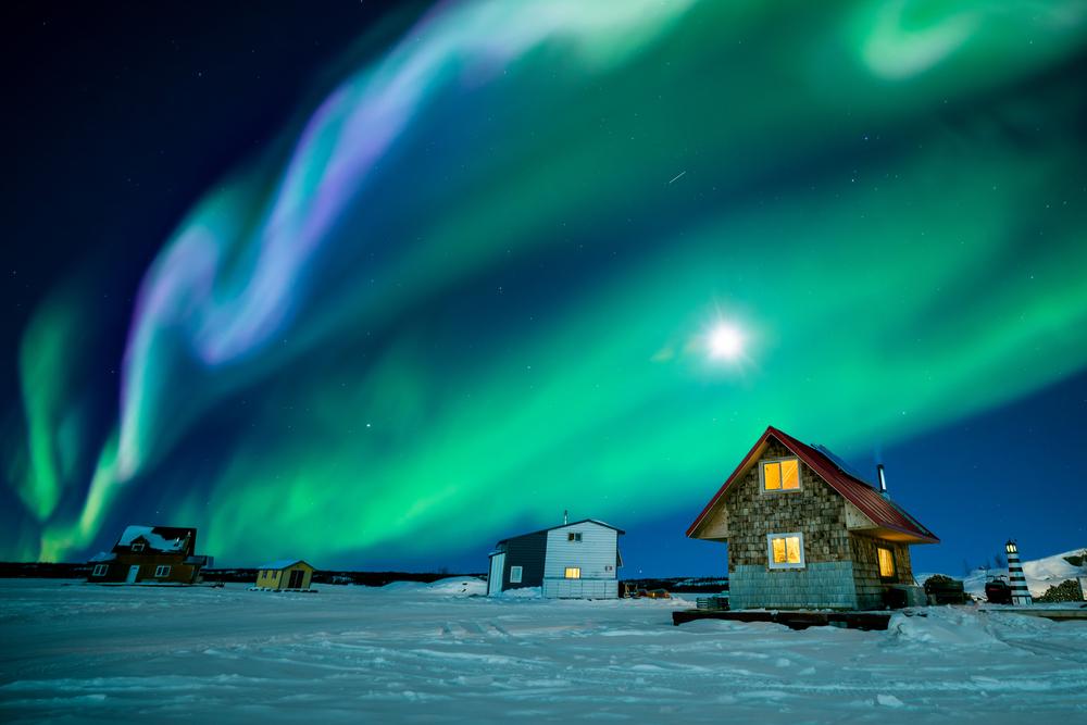 Aurores boreales d'europe