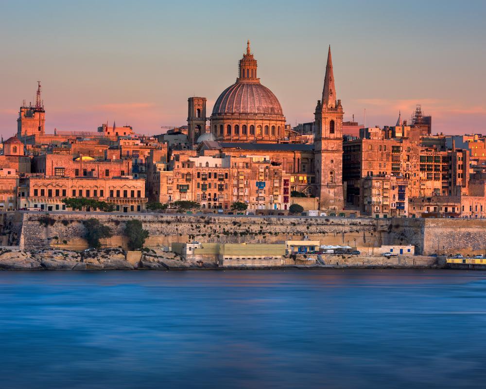 La Valette, capitale de l'ile de Malte