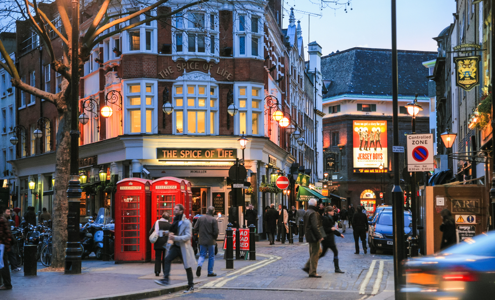 Le quartier de Soho à London
