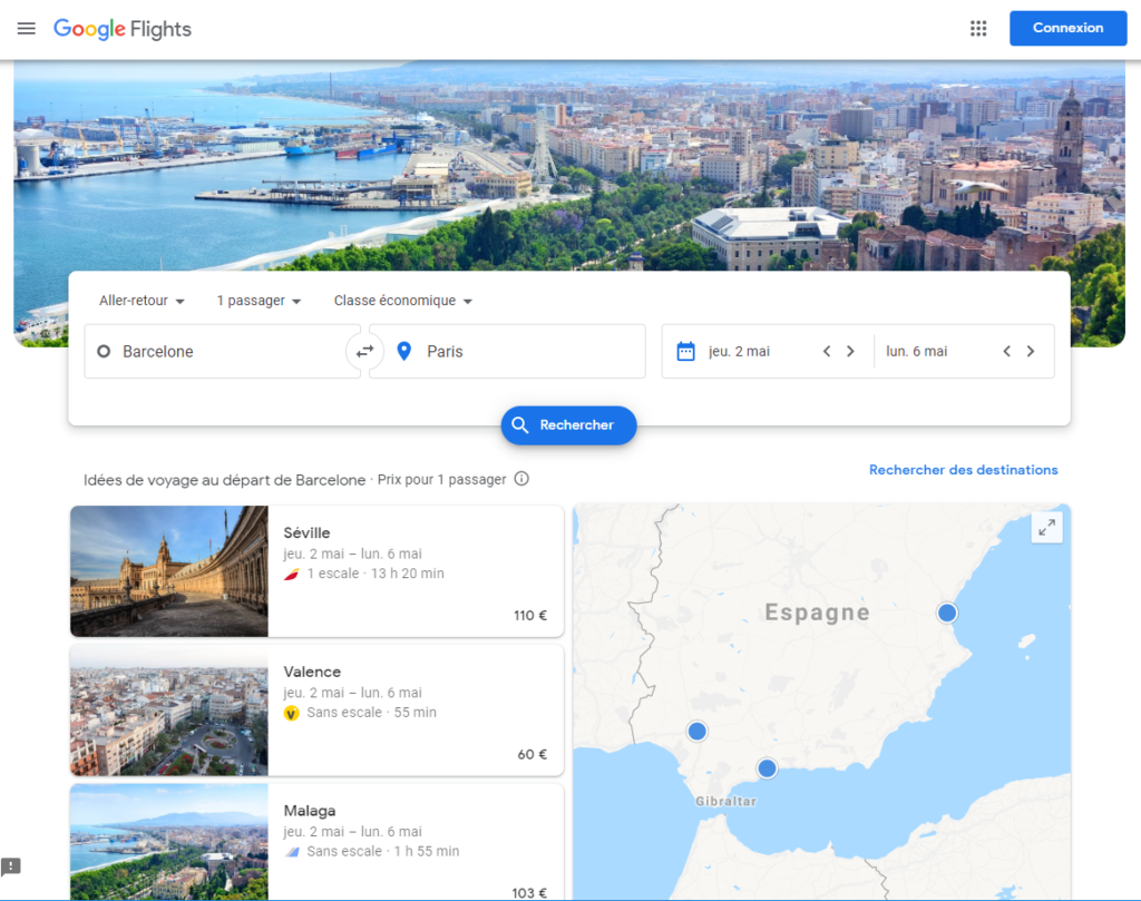 comparateur Google Flights